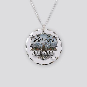 Utah outdoors Necklace Circle Charm