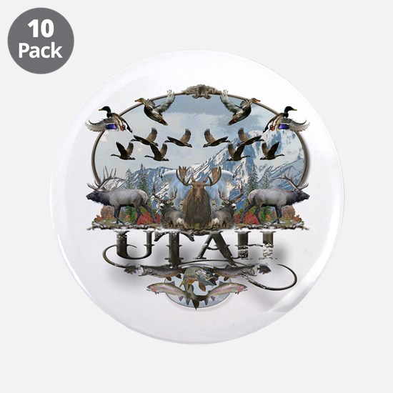 "Utah outdoors 3.5"" Button (10 pack)"