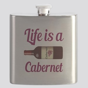 Life is a Cabernet Wine Quote Flask