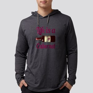 Life is a Cabernet Wine Quote Mens Hooded Shirt