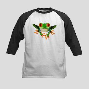 Colorful Tree Frog Kids Baseball Jersey