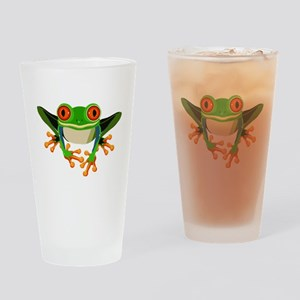 Colorful Tree Frog Drinking Glass