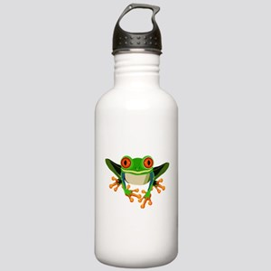 Colorful Tree Frog Stainless Water Bottle 1.0L