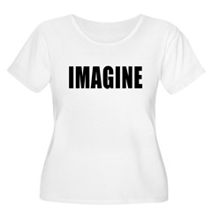 IMAGINE in Bold Black Letters T-Shirt