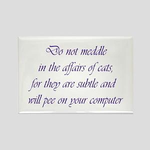 Do not meddle Rectangle Magnet
