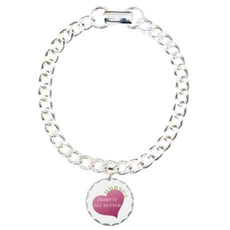 Nurses make it All Better Charm Bracelet, One Char