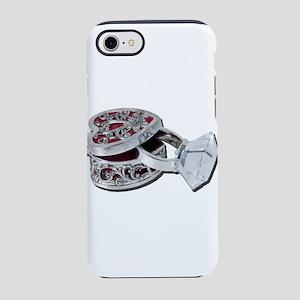 Big diamond ring in ring box iPhone 7 Tough Case