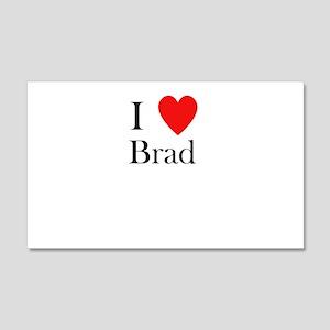 i love brad heart 20x12 Wall Decal