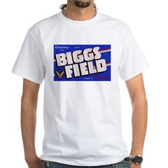 Biggs Field Texas (Front) White T-Shirt
