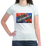 Camp Wolters Texas (Front) Jr. Ringer T-Shirt