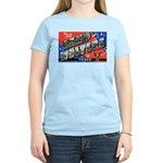 Camp Wolters Texas (Front) Women's Pink T-Shirt