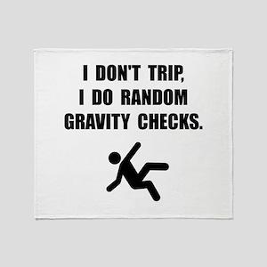 Gravity Checks Throw Blanket