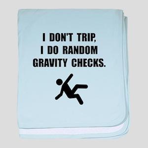 Gravity Checks baby blanket