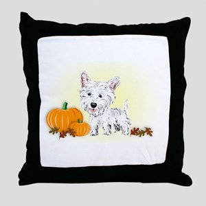 Halloween Westie Throw Pillow