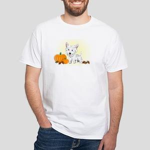 Halloween Westie White T-Shirt