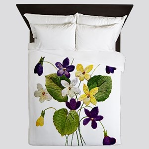 violets_Embroidery036 copy Queen Duvet