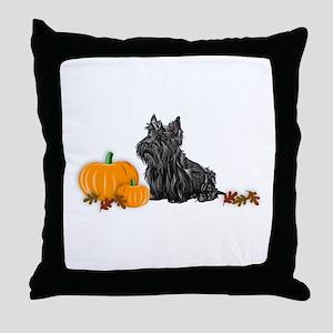 Scottish Terrier Halloween Throw Pillow