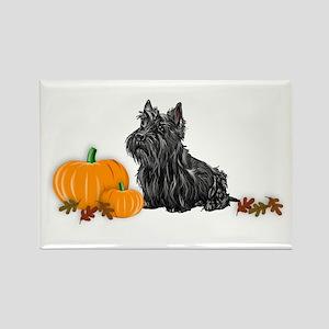 Scottish Terrier Halloween Rectangle Magnet