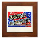 Camp Maxey Texas Framed Tile