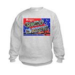 Camp Maxey Texas (Front) Kids Sweatshirt