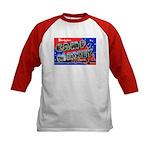 Camp Maxey Texas (Front) Kids Baseball Jersey