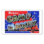 Camp Maxey Texas Rectangle Sticker