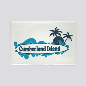 Cumberland Island GA - Surf Design. Rectangle Magn