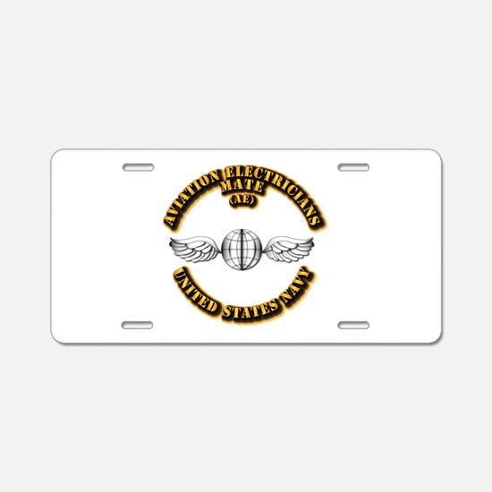 Navy - Rate - AE Aluminum License Plate