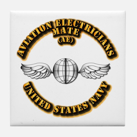 Navy - Rate - AE Tile Coaster