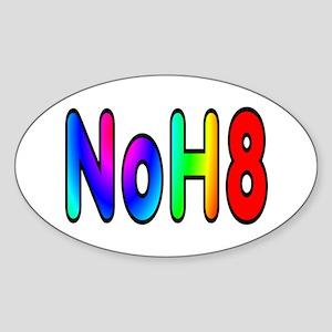 NoH8 - Sticker (Oval)