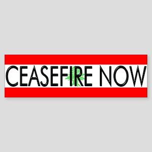 Ceasefire Now Bumper Sticker