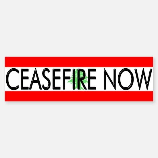 Ceasefire Now Bumper Bumper Bumper Sticker