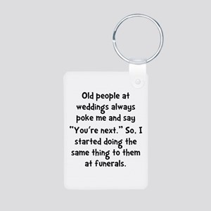 Old People Funerals Aluminum Photo Keychain