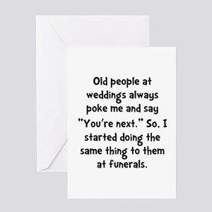Old People Funerals Greeting Card