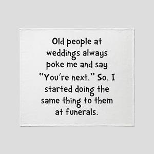 Old People Funerals Throw Blanket