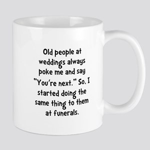 Old People Funerals Mug