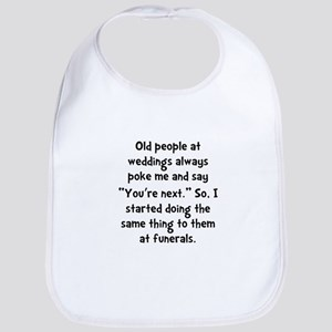 Old People Funerals Bib