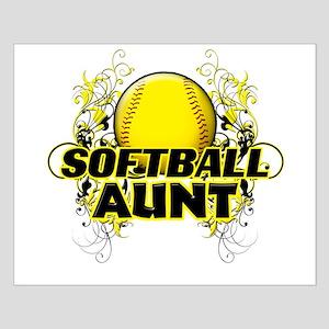 Softball Aunt (cross) Small Poster
