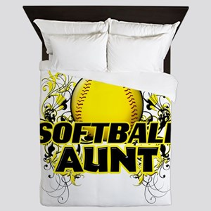 Softball Aunt (cross) Queen Duvet