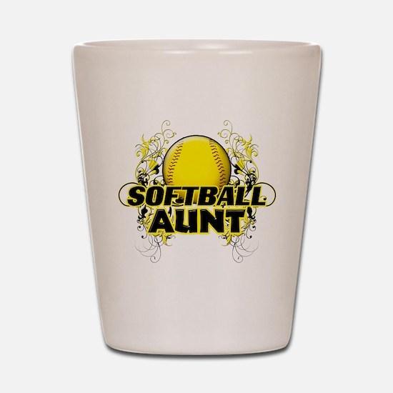 Softball Aunt (cross).png Shot Glass