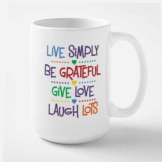Live Simply Affirmations Large Mug