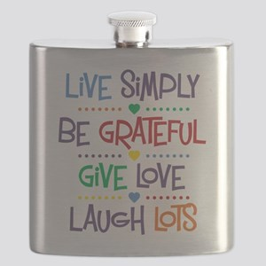 Live Simply Affirmations Flask