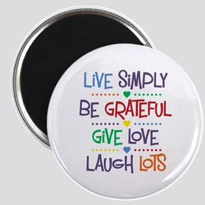 Live Simply Affirmations Magnet