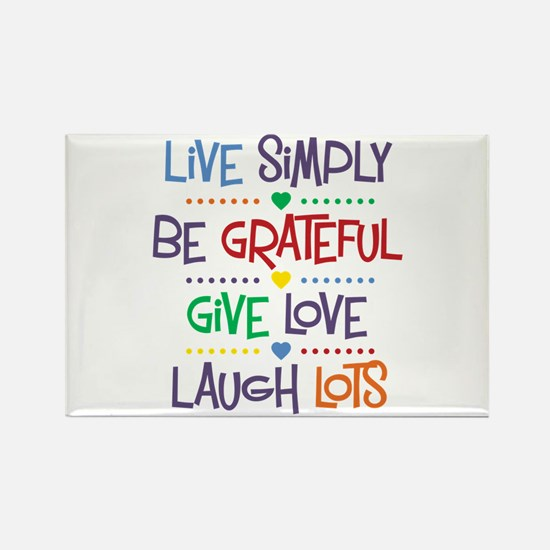 Live Simply Affirmation Rectangle Magnet (10 pack)
