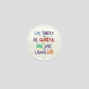 Live Simply Affirmations Mini Button