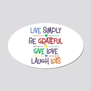 Live Simply Affirmations 20x12 Oval Wall Decal