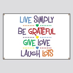 Live Simply Affirmations Banner