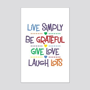 Live Simply Affirmations Mini Poster Print