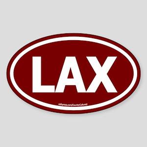 LAX Oval Sticker