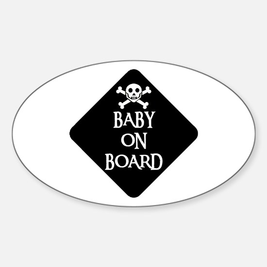 WARNING: BABY ON BOARD Oval Decal